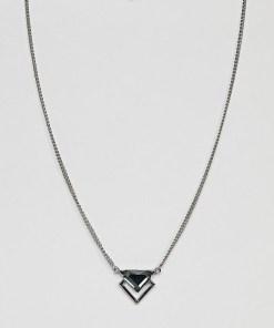 DesignB - Silberne Halskette mit Pfeildesign