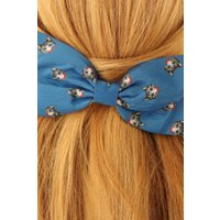 50s Cat Hair Bow in Teal