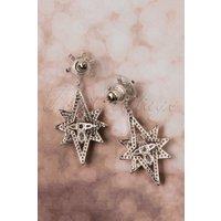 50s Esme Sparkle Star Earrings in Silver