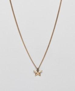 WFTW - Goldene Halskette mit Sternanhänger - Gold