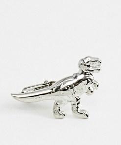Moss London - Krawattennadel mit Dinosaurier - Silber