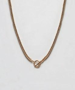 ASOS DESIGN - Goldene Kette mit geometrischem Verschluss - Gold
