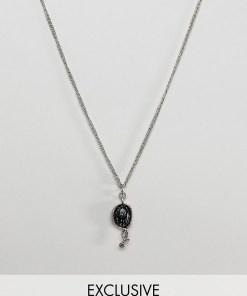 Reclaimed Vintage inspired - Silberne Halskette mit Schlangen-Anhänger - Exklusiv nur bei ASOS - Silber