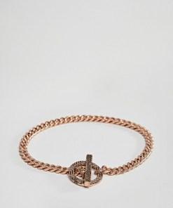 Icon Brand - Silberfarbenes Kettenarmband mit Ringverschluss - Silber