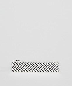 Icon Brand - Krawattennadel aus Altsilber mit Chevronstreifen - Silber