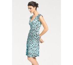 Damen Shirtkleid in Wickel-Optik, blau, Gr. 36, heine TIMELESS, Material: Viskose, Elasthan