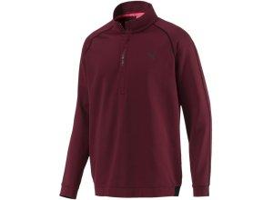 PUMA Sweatshirt rotviolett / schwarz