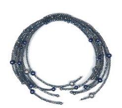 Trachten Halskette Xenia mit Glassperlen Allgäu Rebell blau
