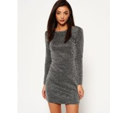 Superdry Metallic Vee Back Strickkleid