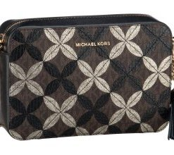 Michael Kors Umhängetasche Ginny Medium Camera Bag Python Brown/Black