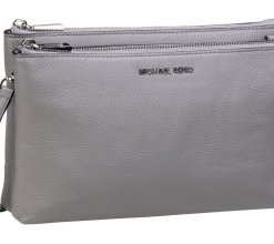 Michael Kors Umhängetasche Adele Double Zip Crossbody Pearl Grey