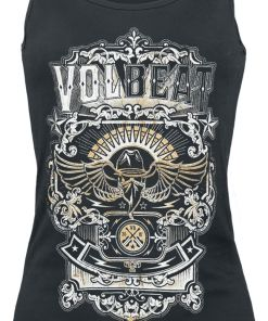 Volbeat Old Letters Girl-Top schwarz