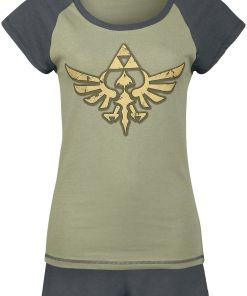 The Legend Of Zelda Triforce Pyjama schwarz/grün