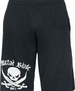Metal Blade Pirate Logo Shorts schwarz