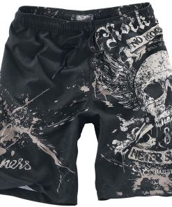 Rock Rebel by EMP Swimming Time Badeshorts schwarz