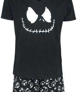 The Nightmare Before Christmas Jack Face & Skull Pyjama schwarz