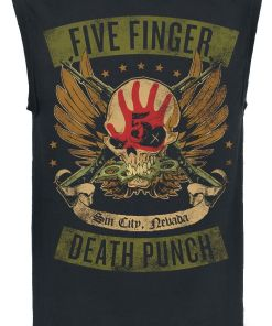 Five Finger Death Punch Locked & Loaded Tank-Top schwarz