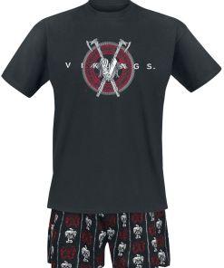 Vikings Double Axe Pyjama schwarz