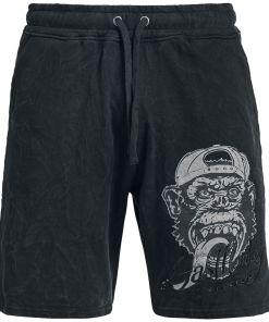 Gas Monkey Garage Logo Shorts dunkelgrau