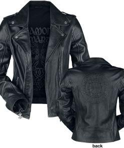Amon Amarth EMP Signature Collection Girl-Lederjacke schwarz