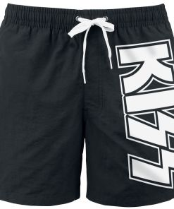 Kiss Logo Badeshorts schwarz