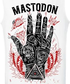 Mastodon Tattooed Hand Tank-Top weiß