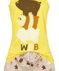 We Bare Bears Bear Stack Pyjama gelb