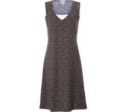 Träger-Kleid Pünktchen-Druck Green Cotton mehrfarbig