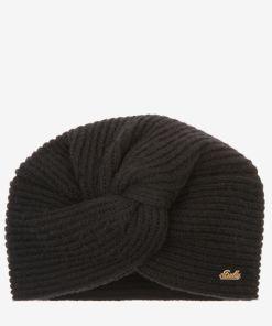 Mütze Mit Zierknoten Schwarz