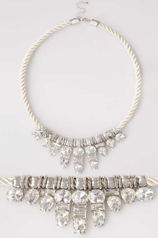 Silberne Kette in Seiloptik mit Diamanten YC