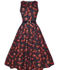 Hepburn Kleid 1950s Pop Art