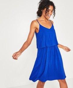 Kleid mit schmalen Trägern