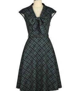 Retro 1940s Dress Grey