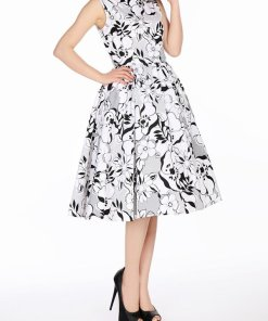 Sleeveless Dress White