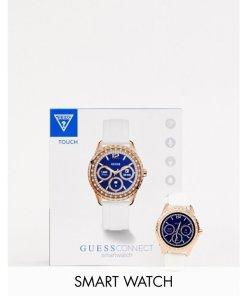Guess - Jemma C1003L1 - Elegante Armbanduhr aus Silikon - Weiß