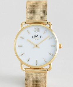 Limit - Goldfarbene Armbanduhr in Netzoptik