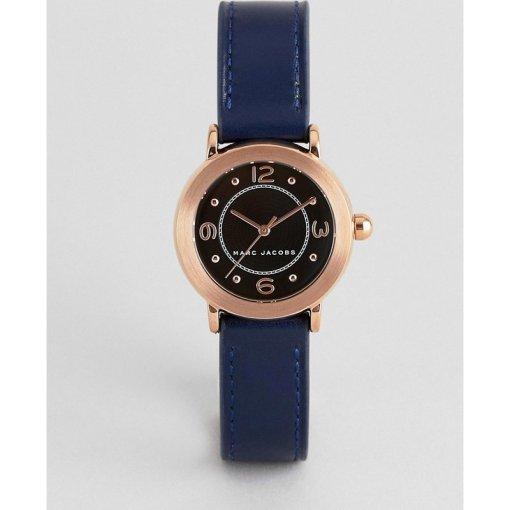 Marc Jacobs - MJ1577 - Damen-Armbanduhr aus marineblauem Leder - Navy