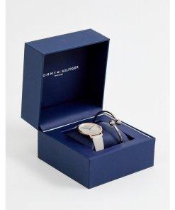Tommy Hilfiger - Armbanduhr und Armband im Geschenkset - Schwarz