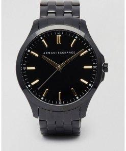 Armani Exchange - AX2144 - Armbanduhr aus Edelstahl in Schwarz - Schwarz