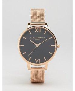 Olivia Burton - OB16BD89 - Armbanduhr mit großem Zifferblatt in Roségold - Gold