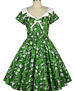 Vintage Flower Circle Dress