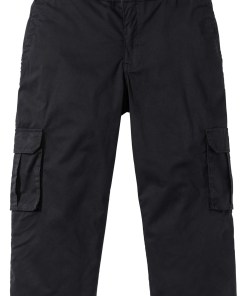 3/4-Stretch-Cargohose mit Rippbund Regular Fit