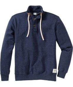 Sweatshirt mit Reißverschluss und Knopfleiste Regular Fit