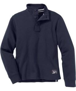 Troyer-Sweatshirt m. Knopfblende Regular Fit