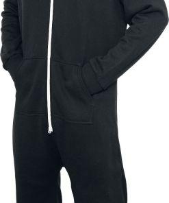 Urban Classics Sweat Jumpsuit Jumpsuit schwarz