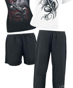Spiral Wyvern Pyjama schwarz