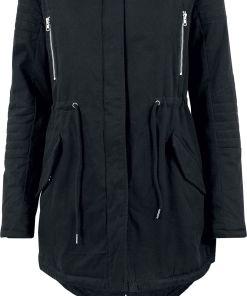 Urban Classics Ladies Sherpa Lined Cotton Parka Girl-Winter-Jacke schwarz