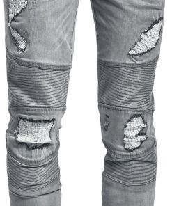 Doomsday Destroyed Biker Jeans Jeans grau