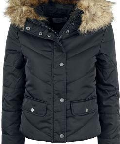 Noisy May Simona L/S Short Jacket Girl-Winter-Jacke schwarz