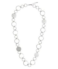 Halskette Weiß-Silber